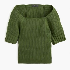 J. Crew Square Neck Sweater with Blouson Sleeves